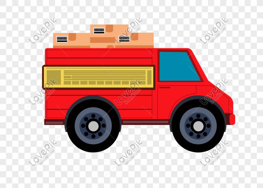 Photo De Fête Des Enfants Camion De Transport Matériel De
