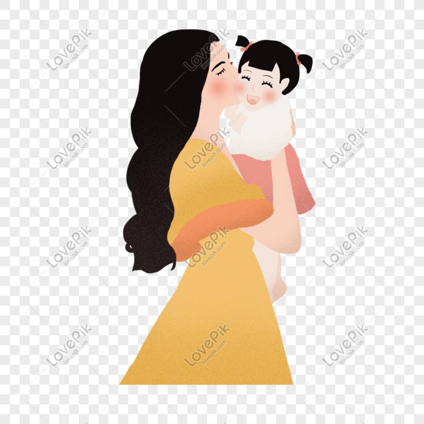 Seorang Ibu Dan Anak Perempuan Gambar Unduh Gratis Imej 401179949 Format Png My Lovepik Com