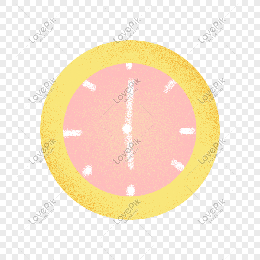 hand drawn cartoon clock elements png