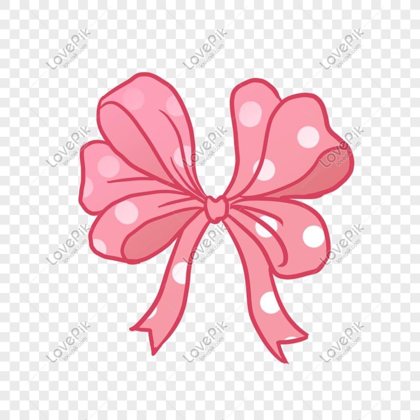 Desenhos Animados De Laco Rosa Liso Imagem Gratis Graficos Numero