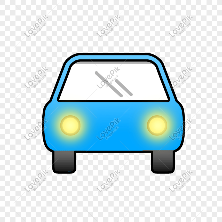 cartoon blue car png