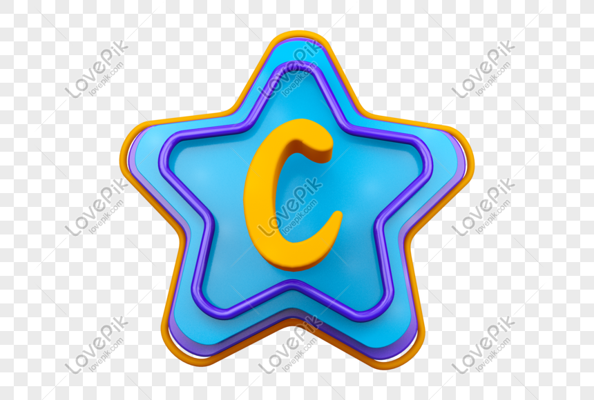 stereo english letter c png