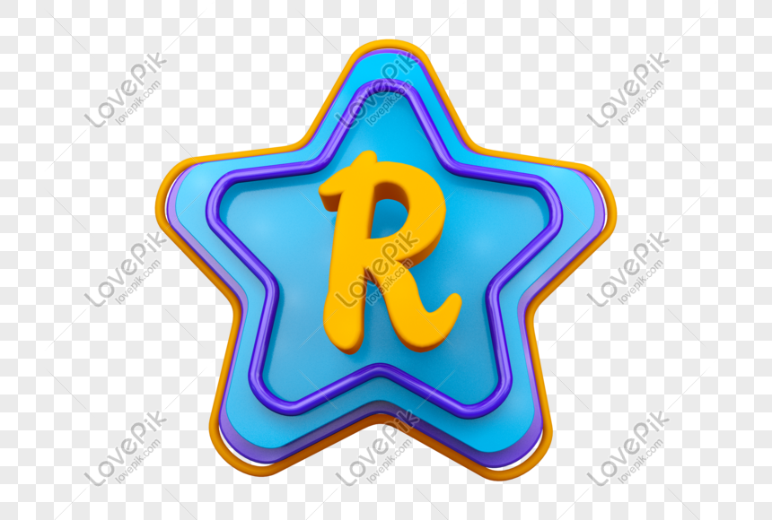stereo english letter r png