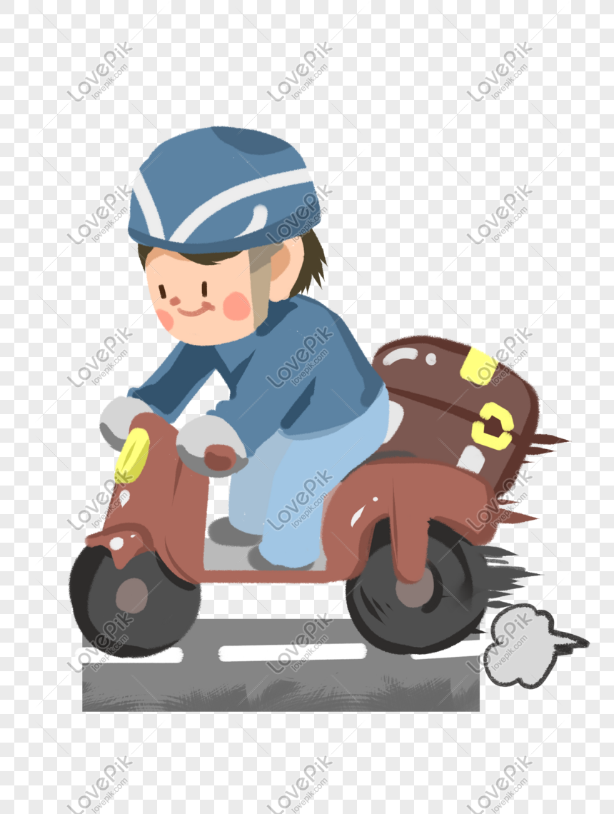 Takeaway Brother Riding A Motorcycle Png Image Picture Free