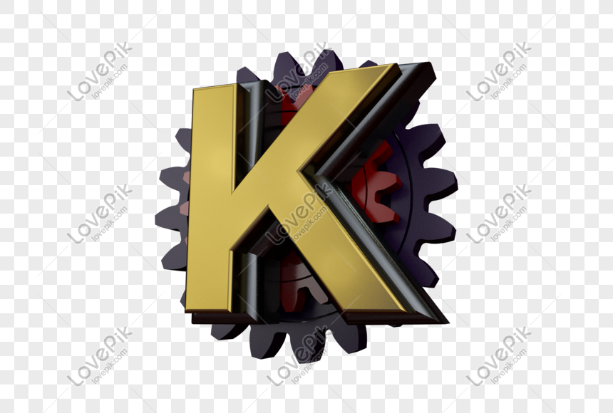 stereo gear letter k png