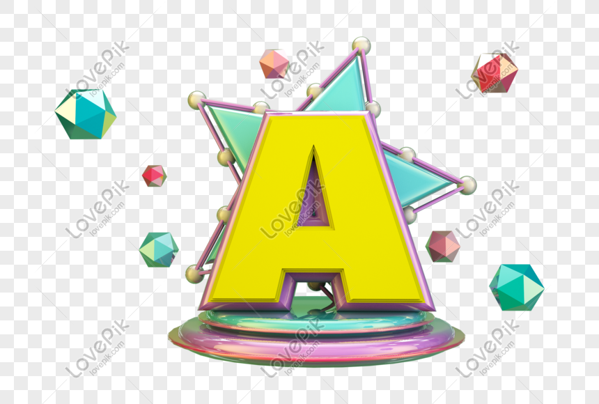 stereo english letter a png