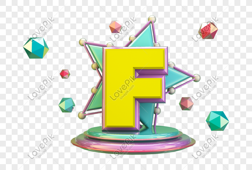 stereo english letter f png