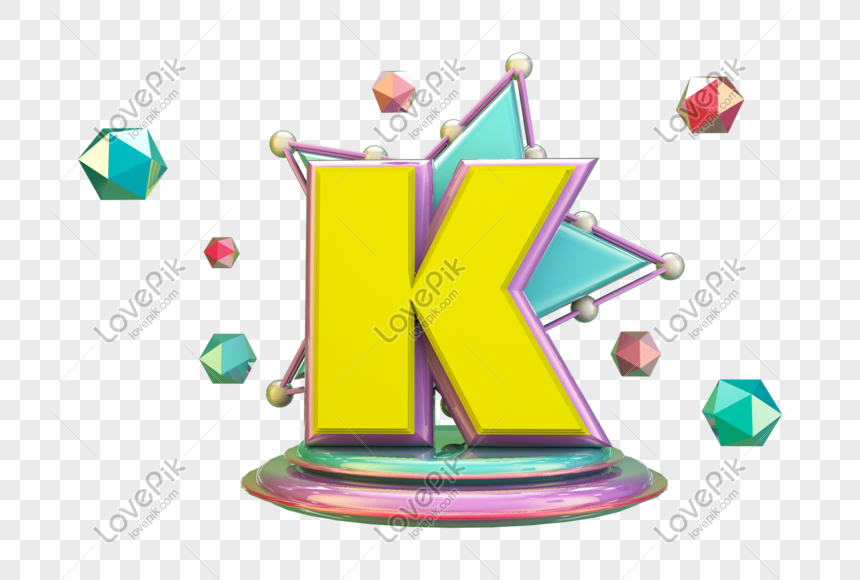 stereo english letter k png