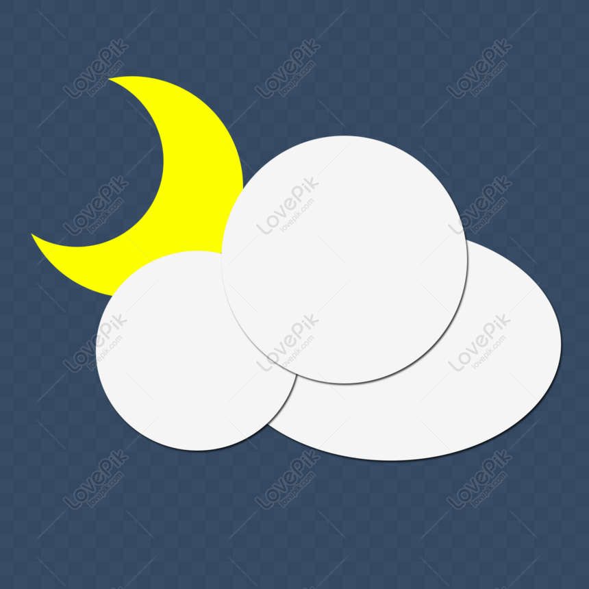 night cloudy weather icon png