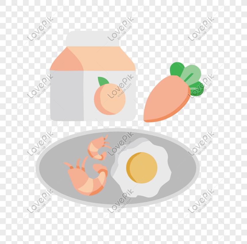 Dibujado A Mano Sano Nutrición Dieta Dieta Dibujos Animados