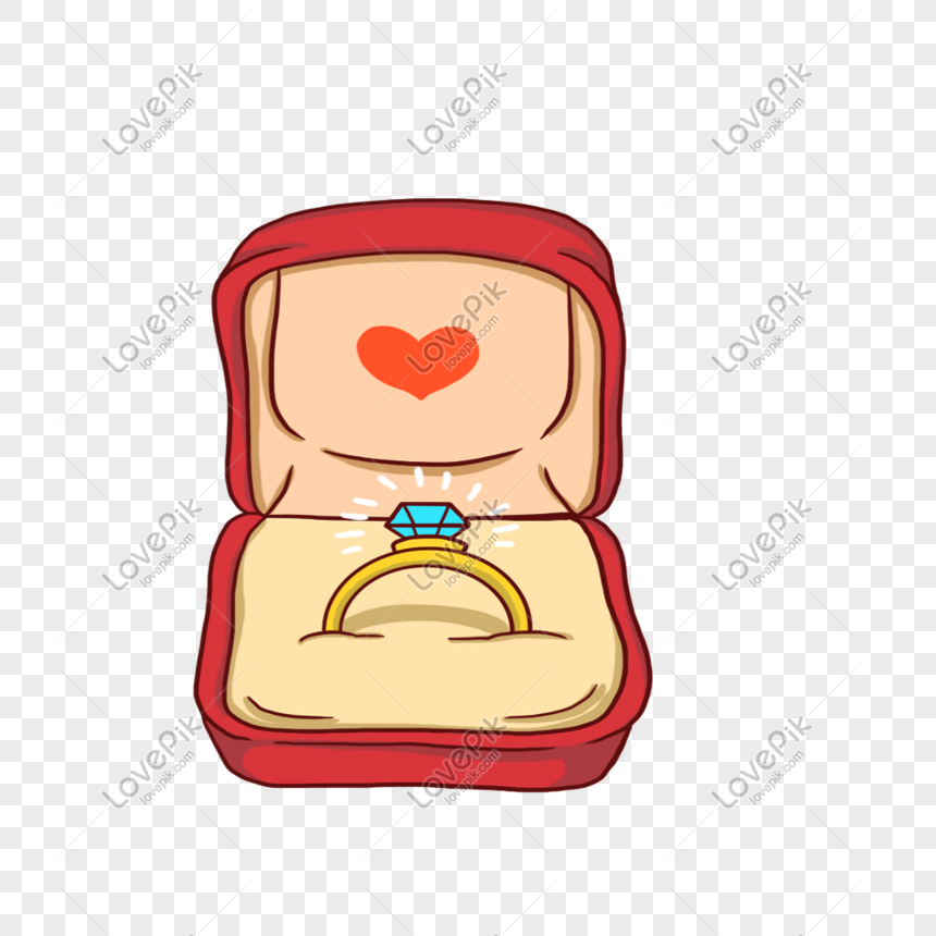 Hand Painted Romantic Valentines Day Wedding Ring Png Image Picture Free Download 401194612 Lovepik Com