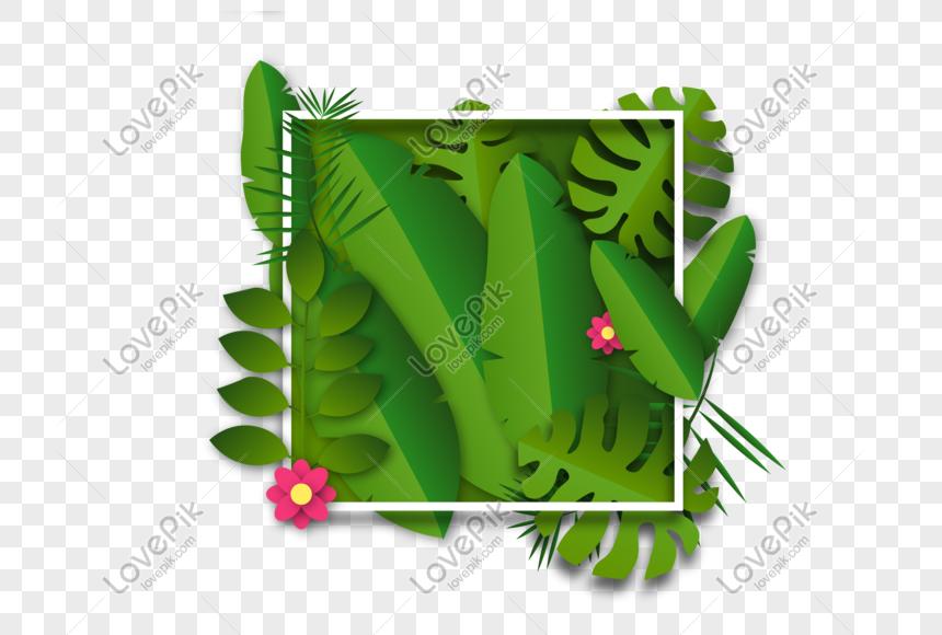 bingkai latar belakang daun hijau png grafik gambar unduh gratis lovepik bingkai latar belakang daun hijau png
