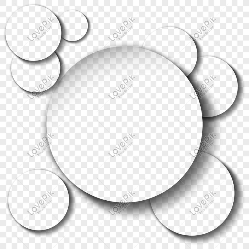 圓形組合陰影投影邊框 png