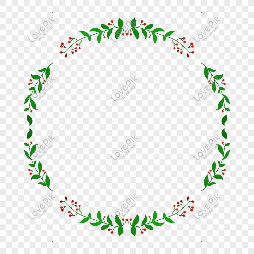 plant round border png