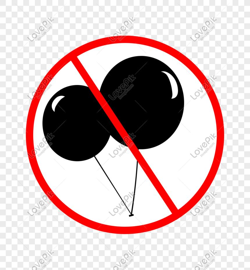 Ikon Kartun Tangan Dilarang Dilarang Belon Ikon Gambar Unduh