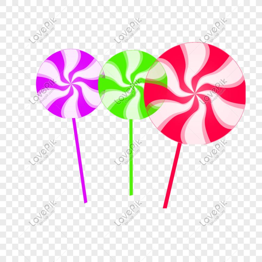 Photo De Sucettes De Bonbons Colores Dessines A La Main De Dessin