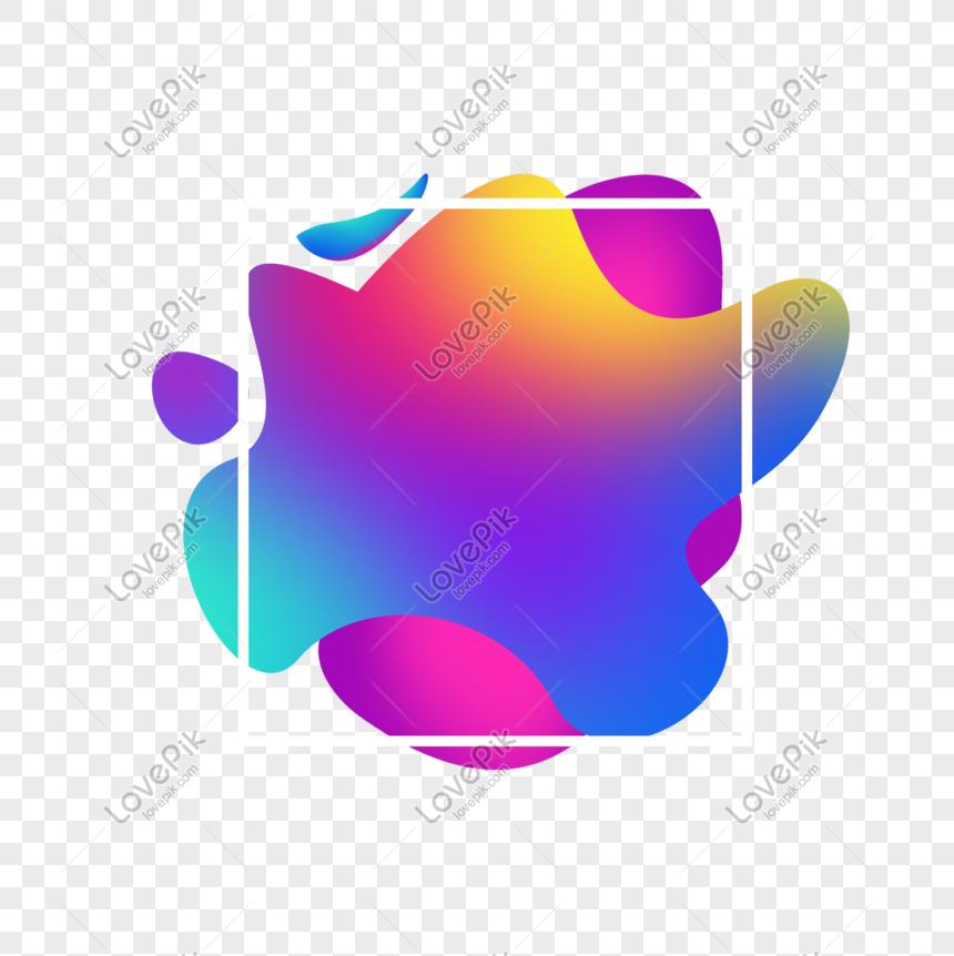 Photo de couleur chaude gradient gradient frontière png ...