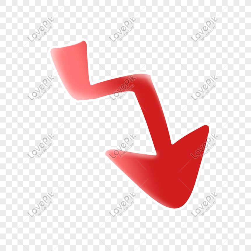 flecha hacia abajo roja png