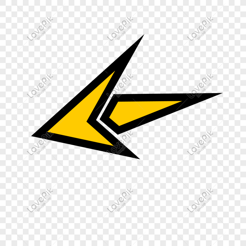 flecha hacia abajo amarilla png