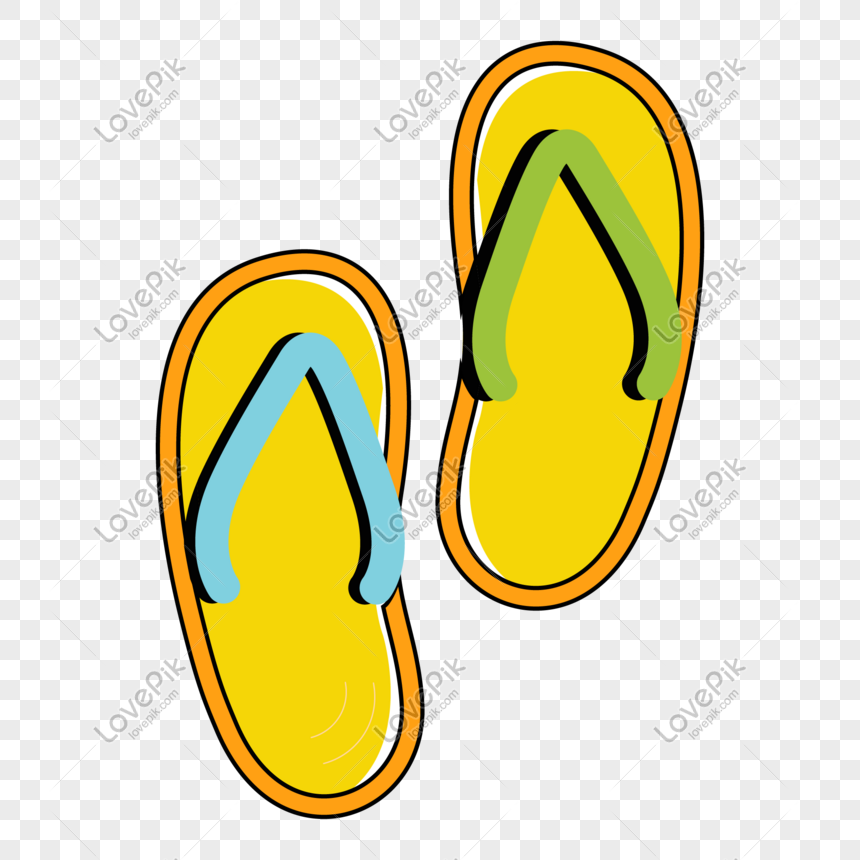 cartoon slippers decorative material pattern png