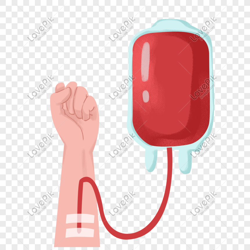 Hand drawn cartoon blood donation hand png image_picture free