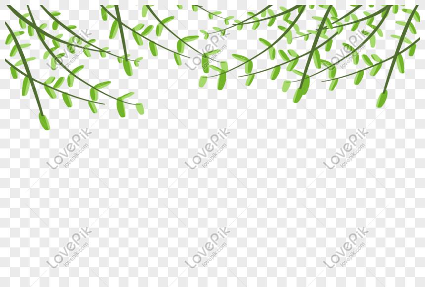 hand painted fake green planting materials png