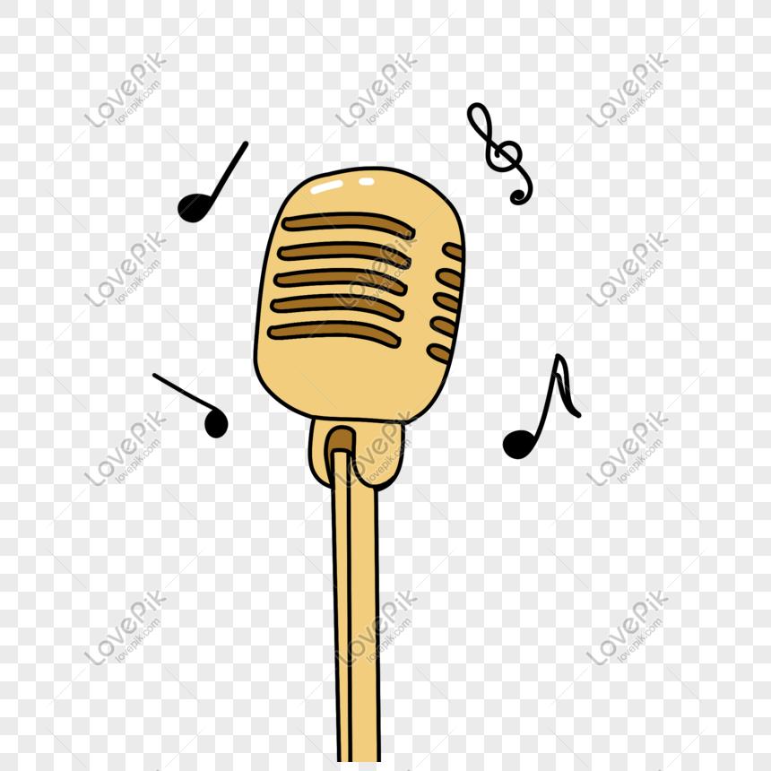 símbolo de música do microfone png