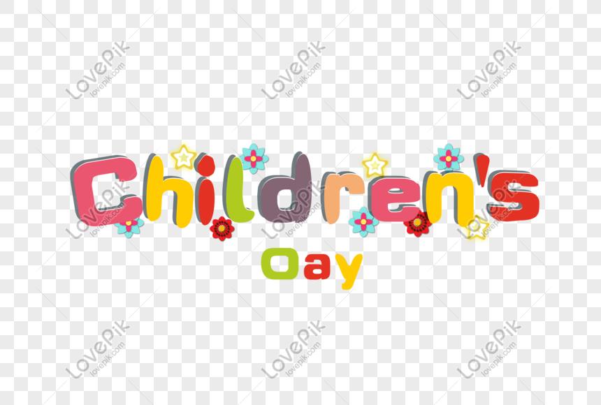 childrens day font design png