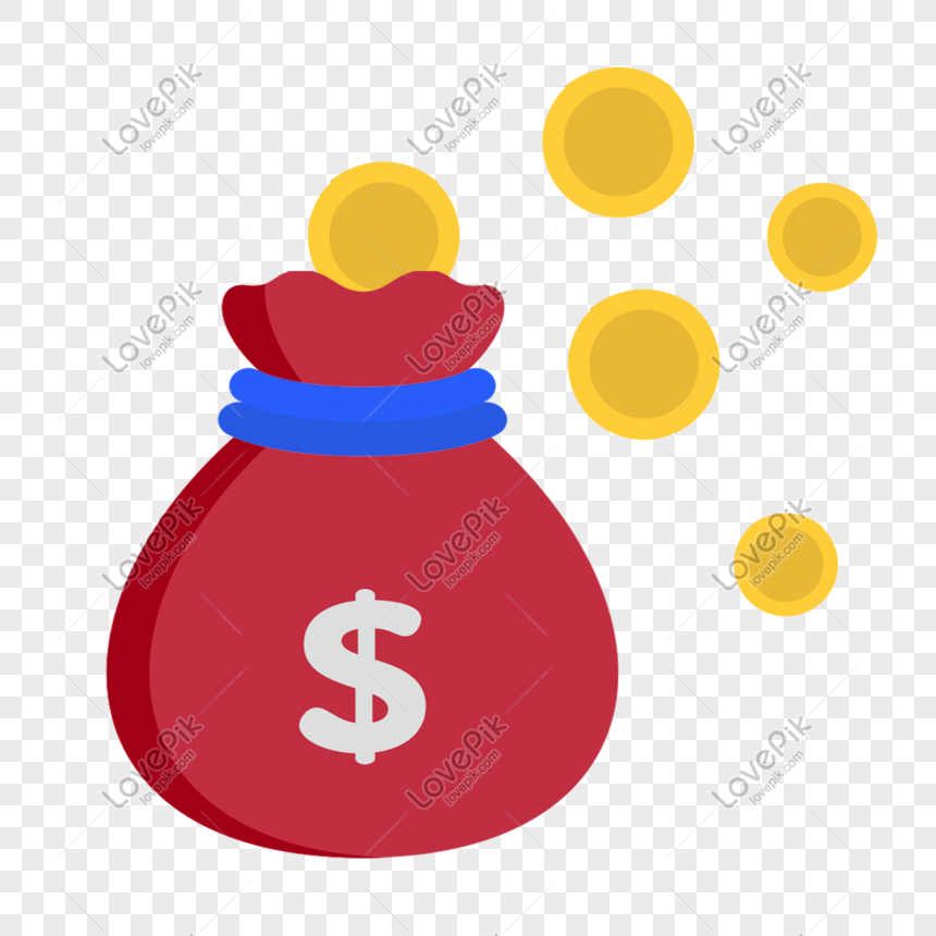 Cartoon bag of coins illustration png image_picture free