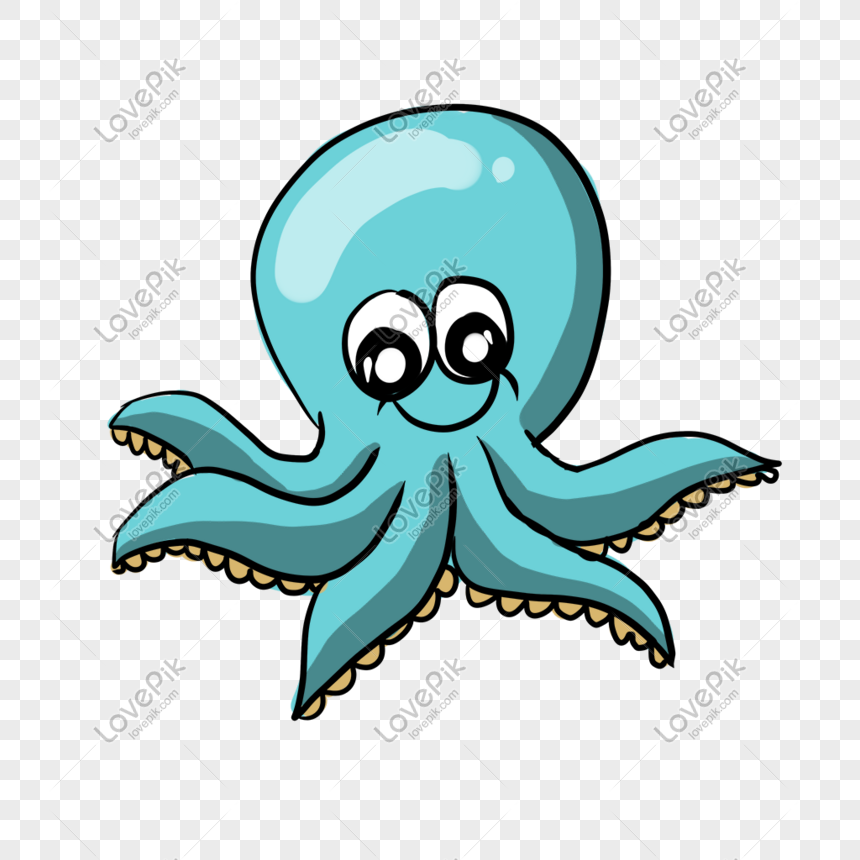 Free download   Green and blue octopus , Deep sea creature Aquatic animal ,  octopus transparent background PNG clipart   HiClipart