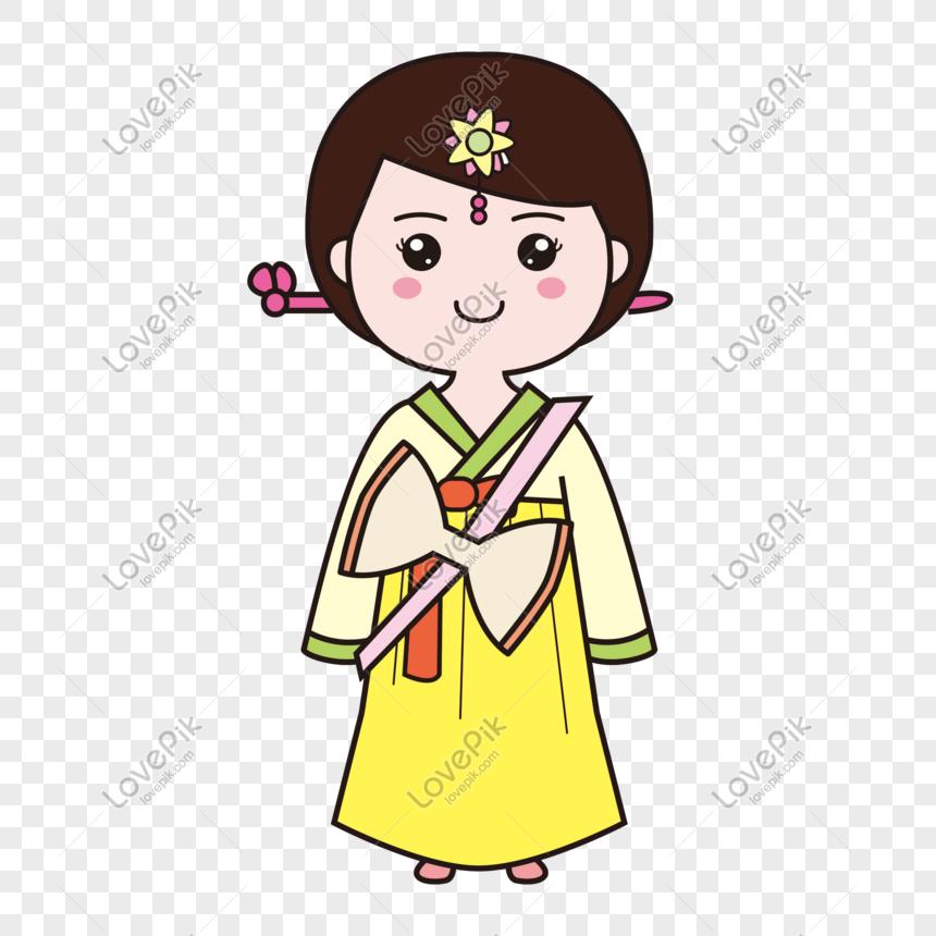 Kartun Tangan Gadis Korea Yang Dilukis Gambar Unduh Gratis Imej 401267792 Format Psd My Lovepik Com