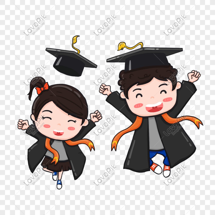 Feliz Pareja Graduada Imagen Descargarprf Gráficos