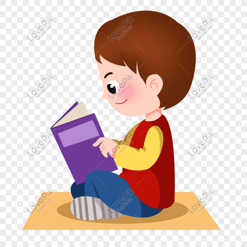 58 Gambar Kartun Orang Membaca Buku Terbaru