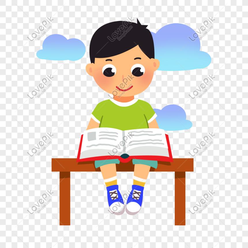 Desk Clipart Tidy Desk - Cartoon Professor Reading A Book - Png Download  (#1462346) - PinClipart