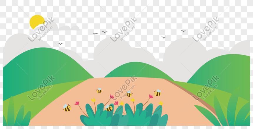 Vektor Kartun Jalur Gunung Png Grafik Gambar Unduh Gratis Lovepik