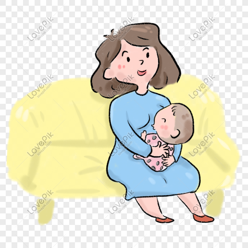 Mother Feeding Baby Cartoon Png Image Picture Free Download 401274594 Lovepik Com