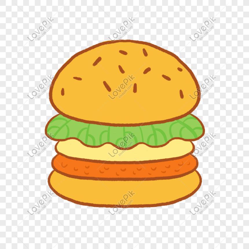 Burger Kartun Gambar Unduh Gratis Imej 401276385 Format Psd My