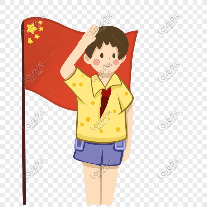Kartun Pria Muda Patriotik Yang Digambar Tangan Memberi Hormat T Png Grafik Gambar Unduh Gratis Lovepik