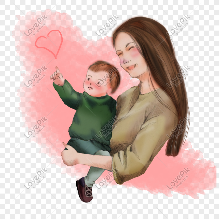 Mother Holding A Child Png Image Picture Free Download 401279286 Lovepik Com