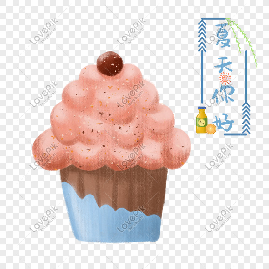hand painted cake dessert png