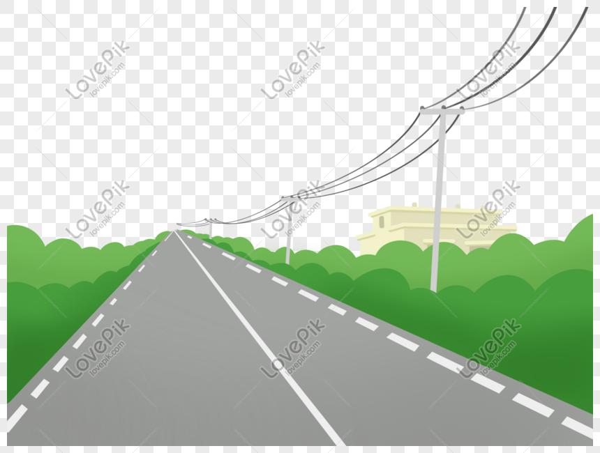 road road plant border png