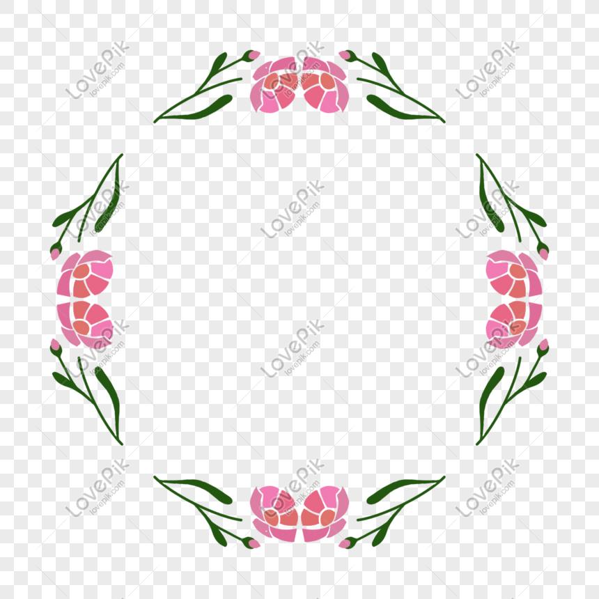 Perbatasan Bunga Sederhana Gambar Unduh Gratis Grafik