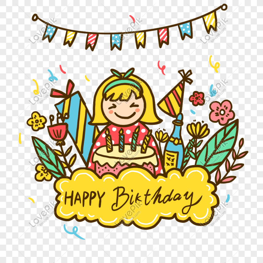 Cartoon Cake Happy Birthday Birthday Party Png Image Picture Free Download 401312707 Lovepik Com