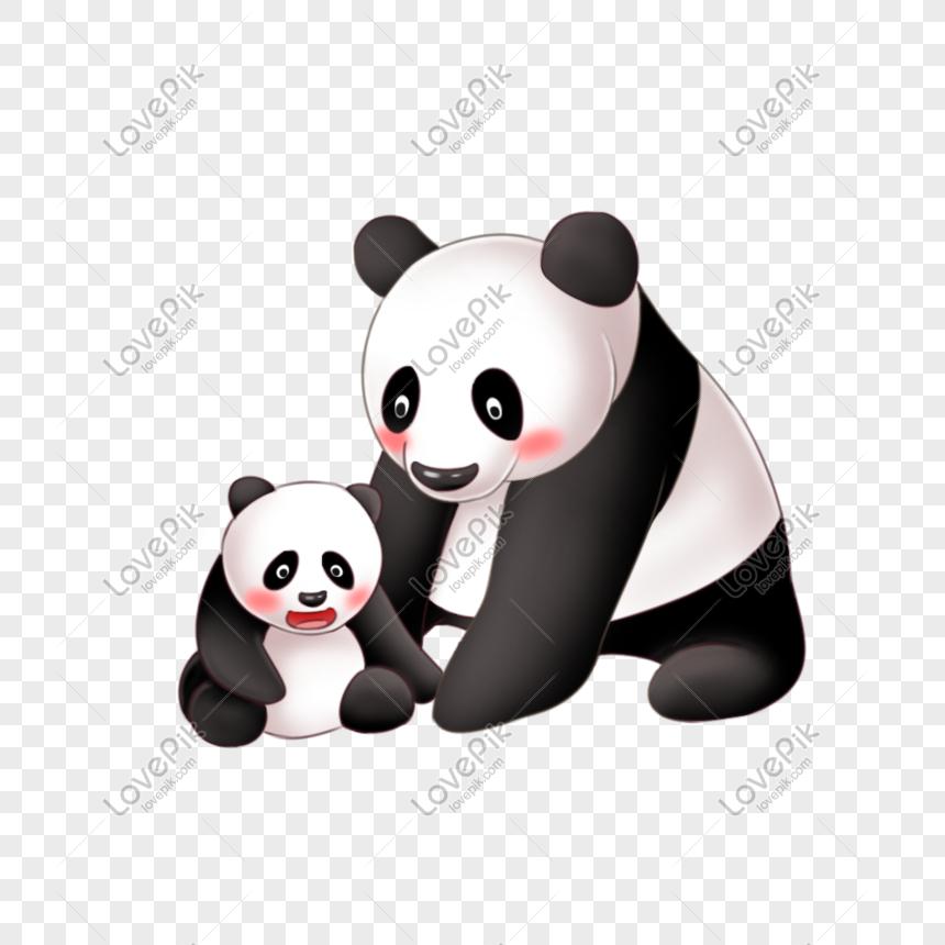 Ibu Dan Anak Panda Gambar Unduh Gratis Imej 401313101 Format Psd My Lovepik Com