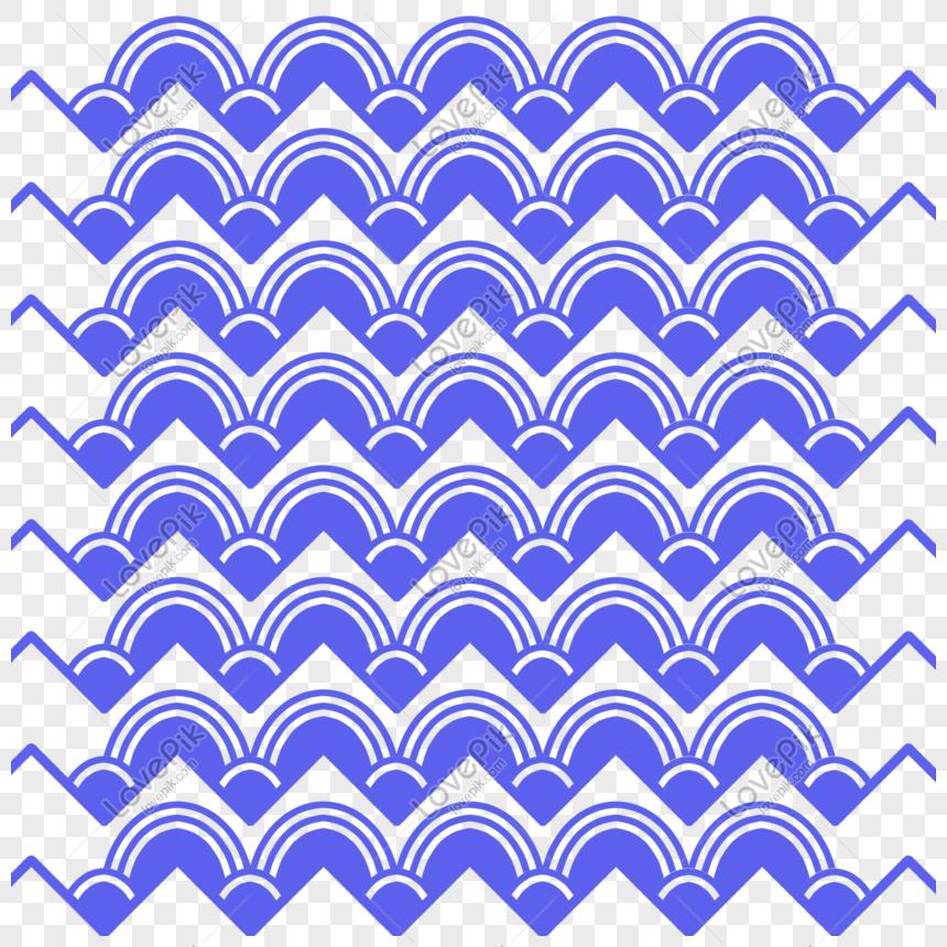 Sơ đồ Vải Họa Tiết Vải Lượn Sóng Màu Xanh Hình ảnh định