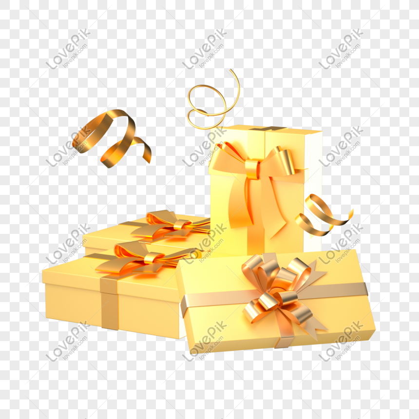 Lovepik صورة C4d 401318377 Id الرسومات بحث صور صندوق هدايا العيد الذهبي