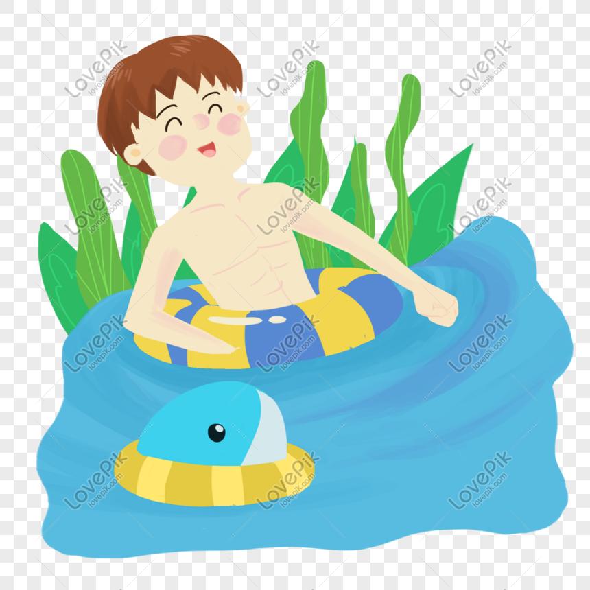Lovepik صورة Psd 401318581 Id الرسومات بحث صور صبي يسبح مع الحوت