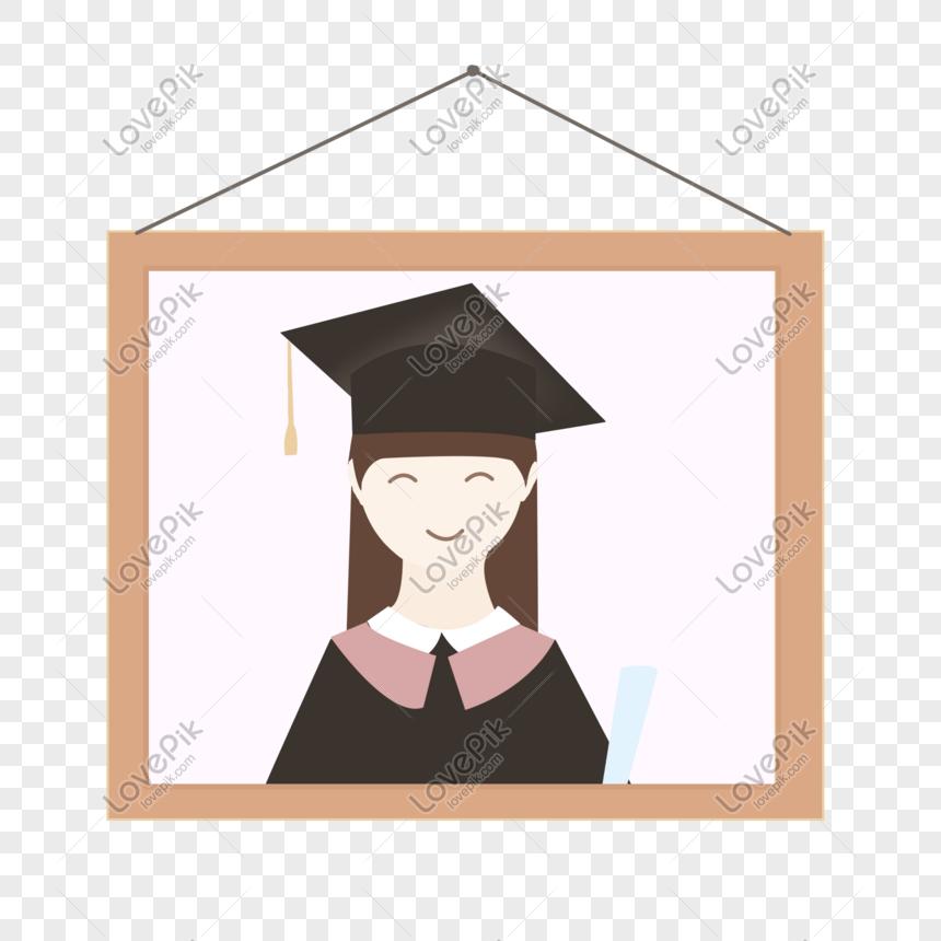 Lovepik صورة Psd 401319065 Id الرسومات بحث صور فتاة ترتدي ثوب التخرج مع قبعة التخرج تحمل شهادة ملفوفة