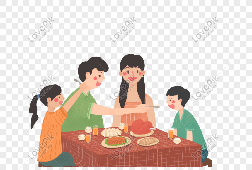 family dinner png