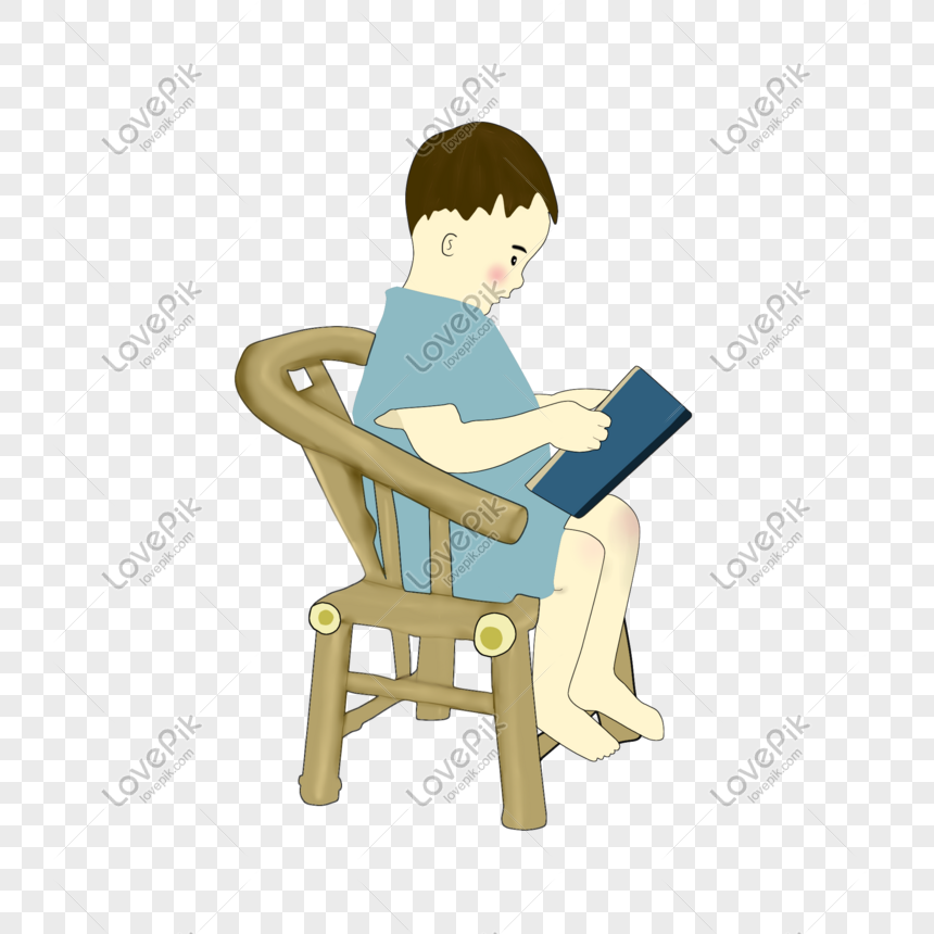 child reading a book png